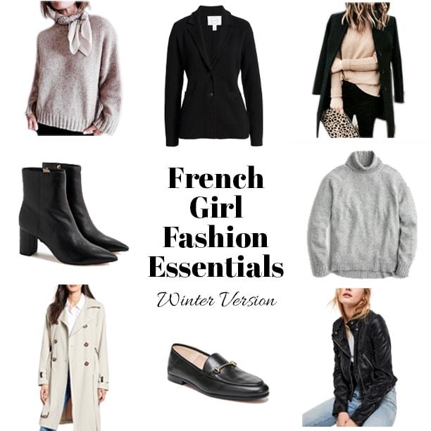 French girl fashion essentials winter version