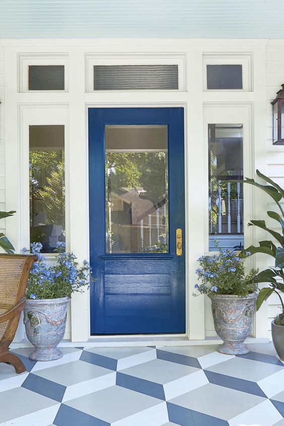 decorating with blue ideas front door