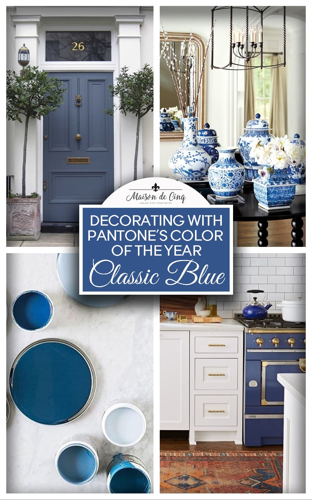 Pantone's color of the year 2020 Classic blue decorating ideas