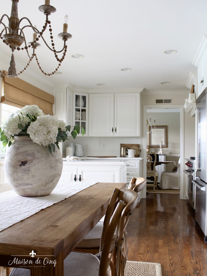 five essential textures to any room mix of woods white french country kitchen
