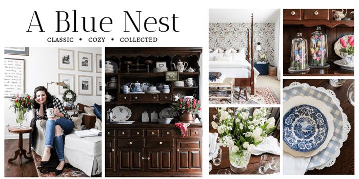 a blue nest home decor blogger