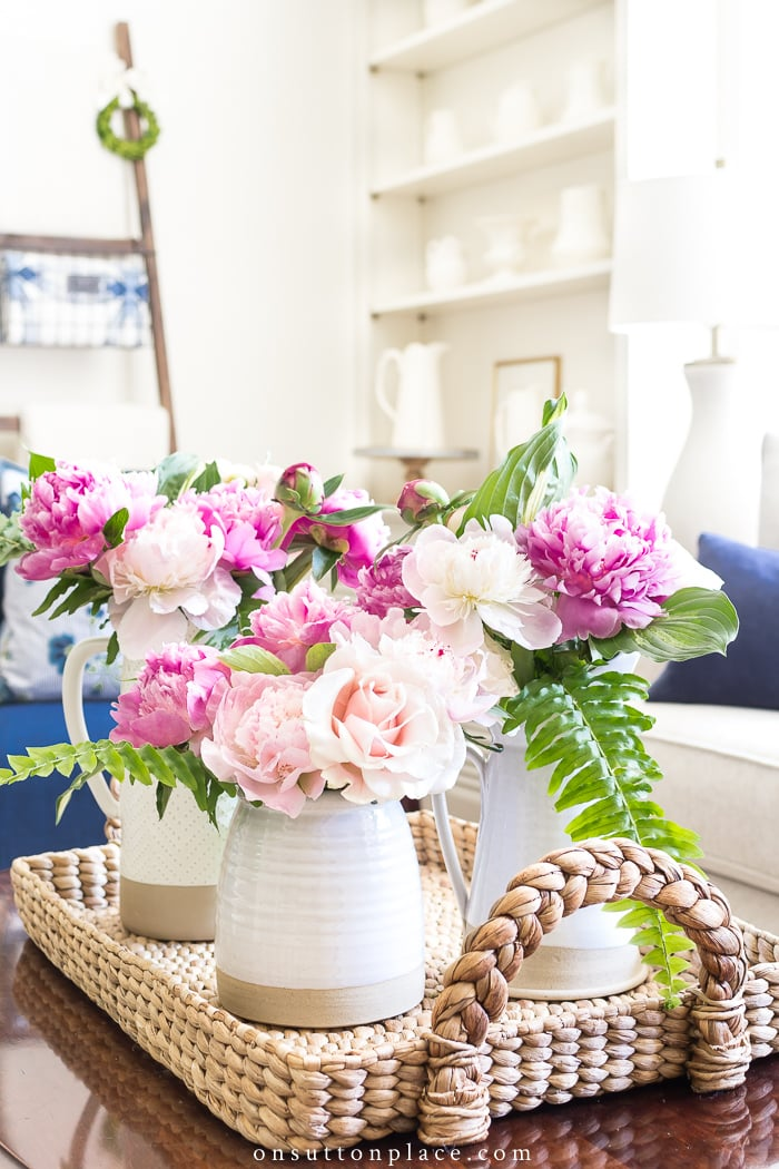 decorating tips add natural elements florals and baskets