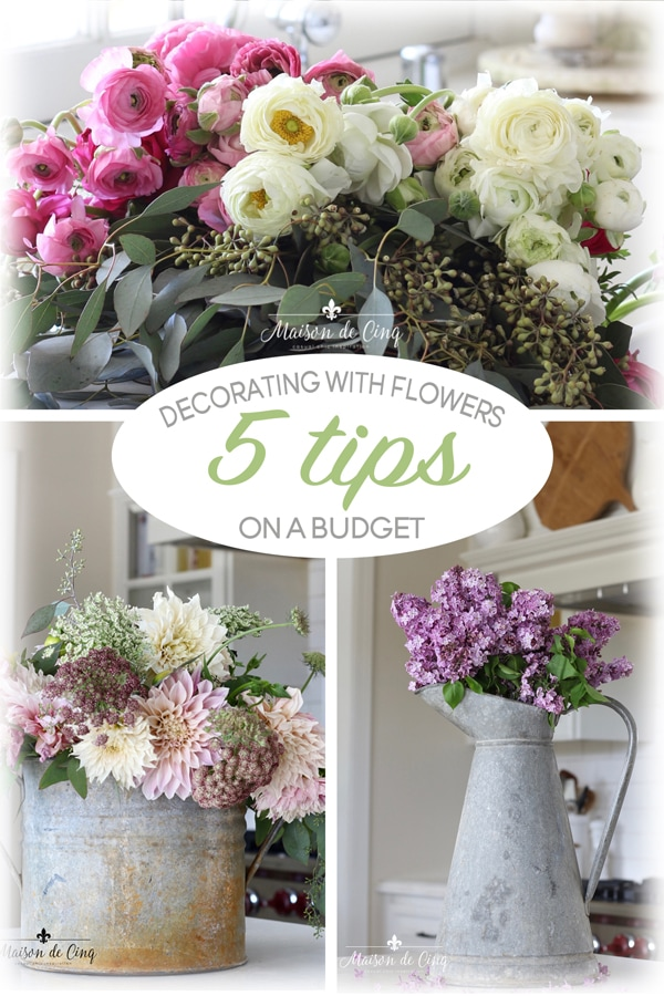 5 tips for decorating with flowers on a budget