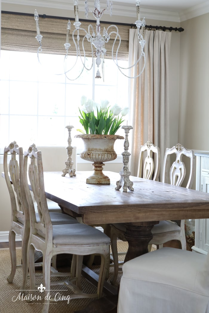 spring dining room gorgeous French country room with tulips