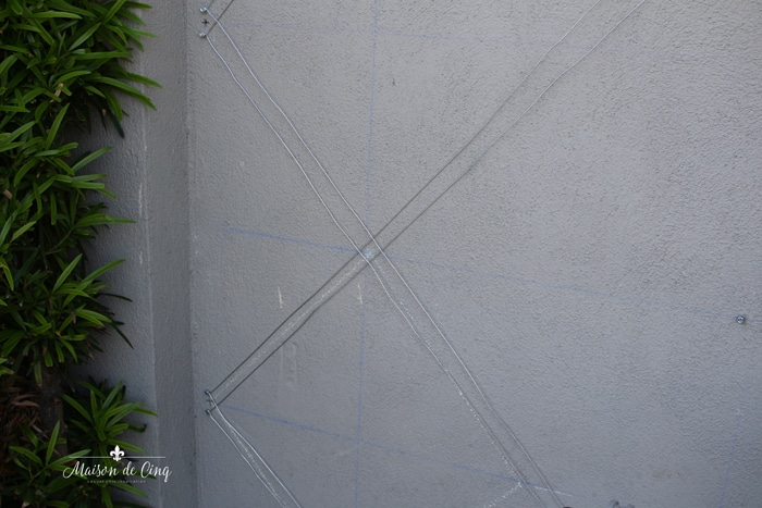 wires used for diamond pattern espalier
