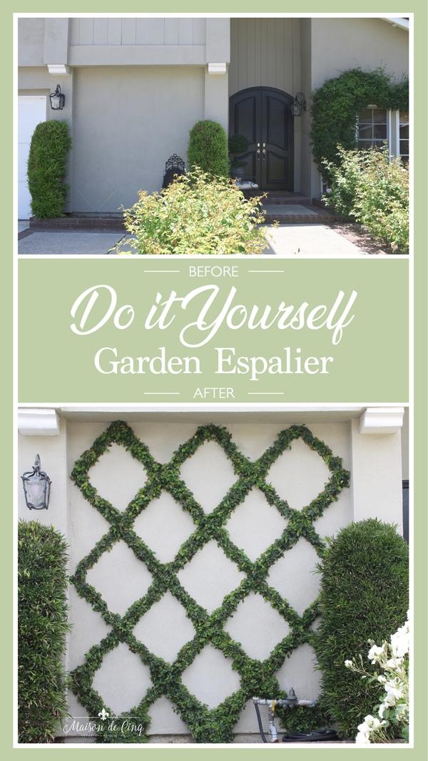 Do It Yourself Garden Espalier trellis Belgian fence