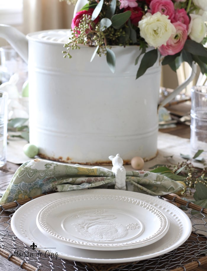 charming vintage watering can centerpiece ranunculus