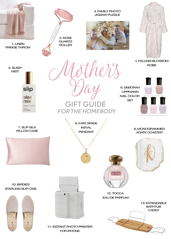 Mother's Day gifts gift guide for the homebody cozy gifts for staying home