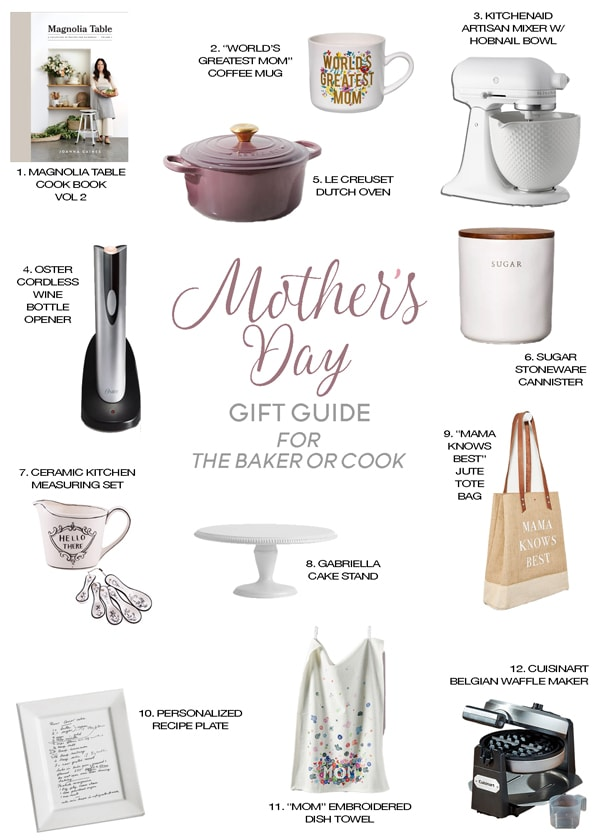 Mother's Day gifts and gift guide ideas for the baker or cook