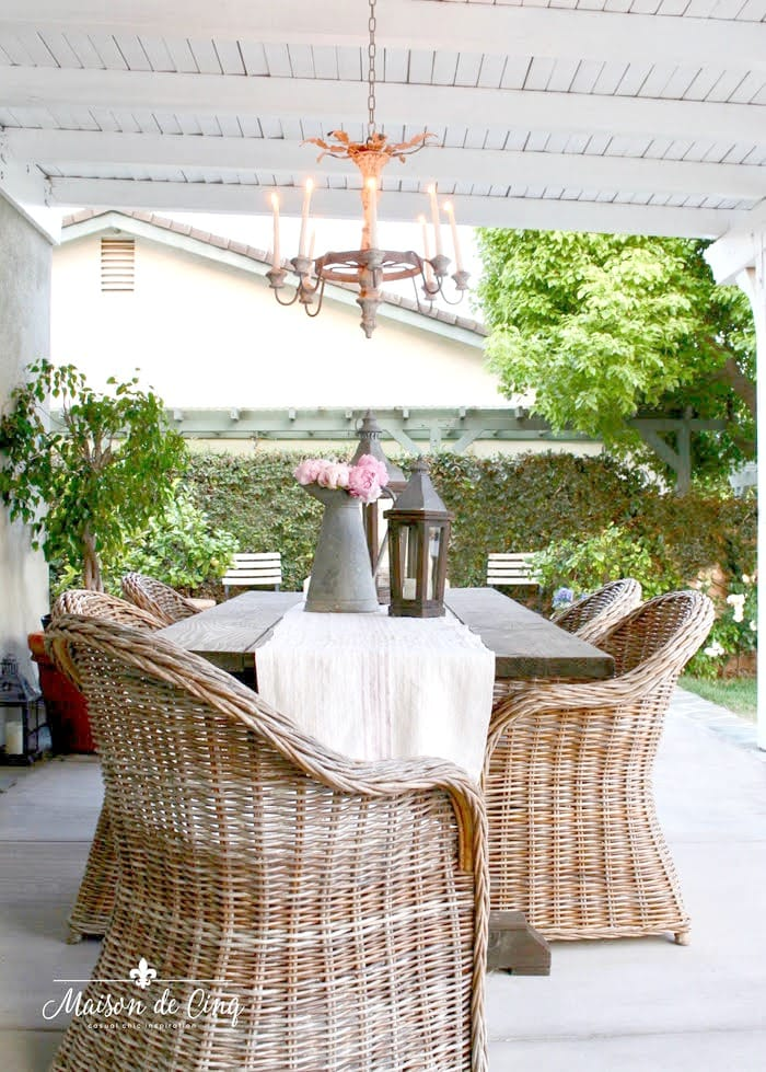 outdoor decorating ideas pretty romantic chandelier patio dining area