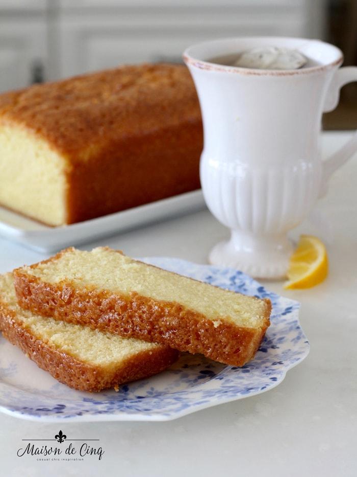 dessert with tea or coffee delicious snack idea