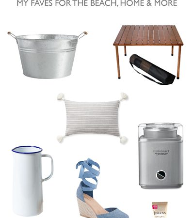Seven Essentials for Summer: My Faves for the Home, Beach, & More