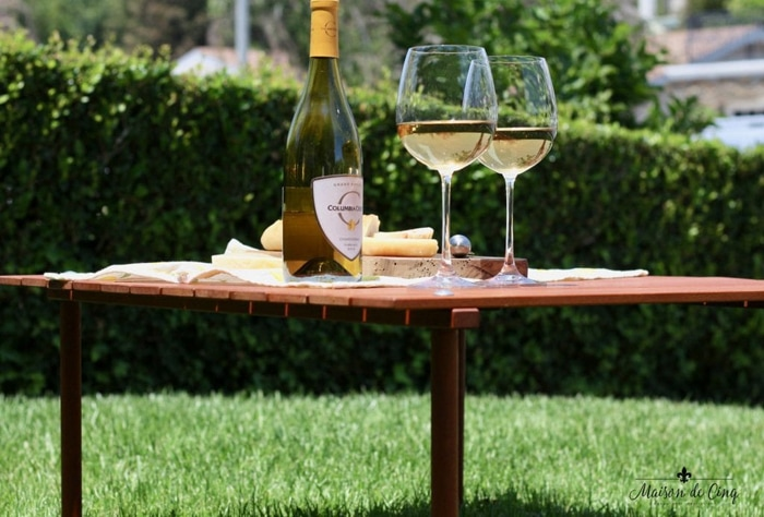 folding portable picnic table wine and cheese summer dining
