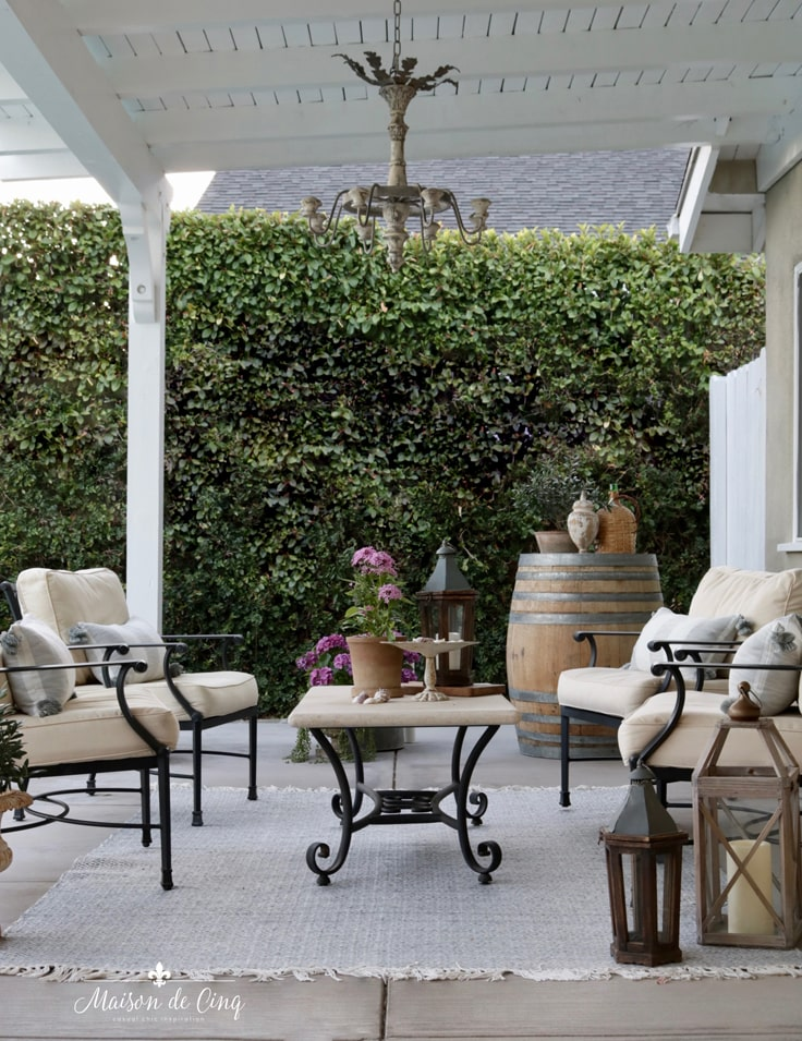 French country style outdoor patio refresh