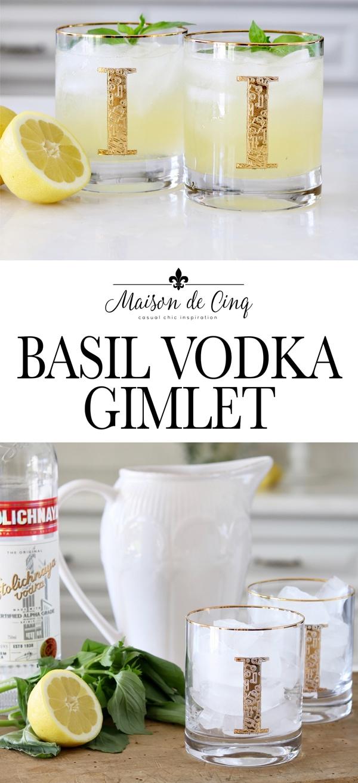 banner basil vodka gimlet delicious summer cocktail