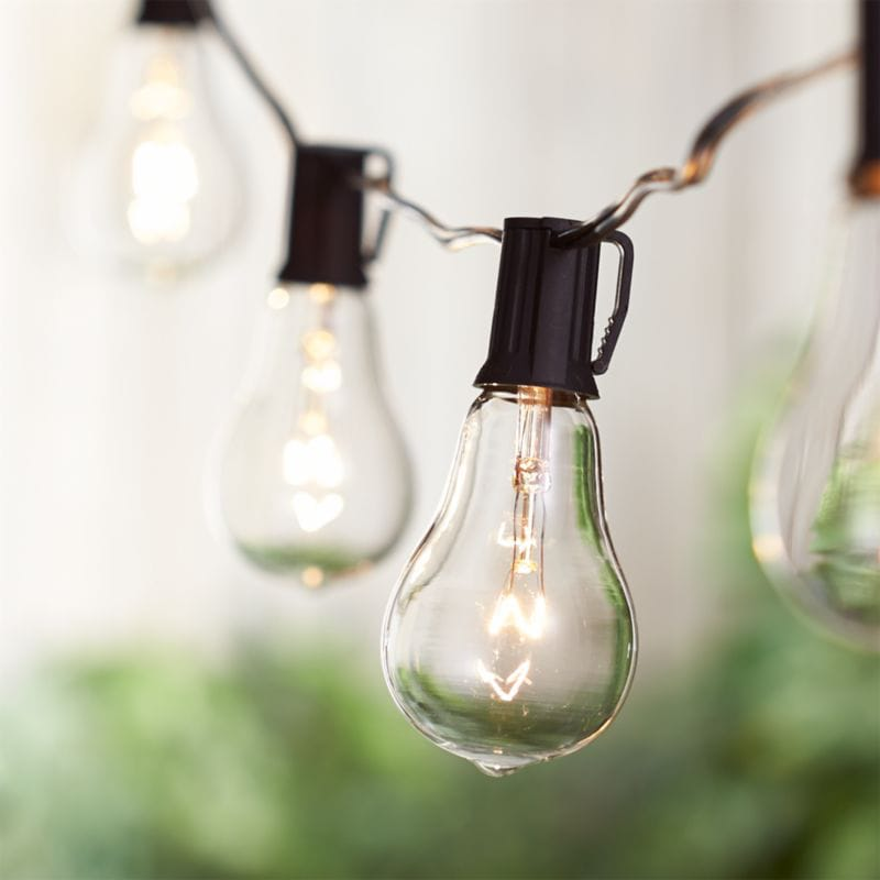 Edison style string lights outdoor entertaining essential