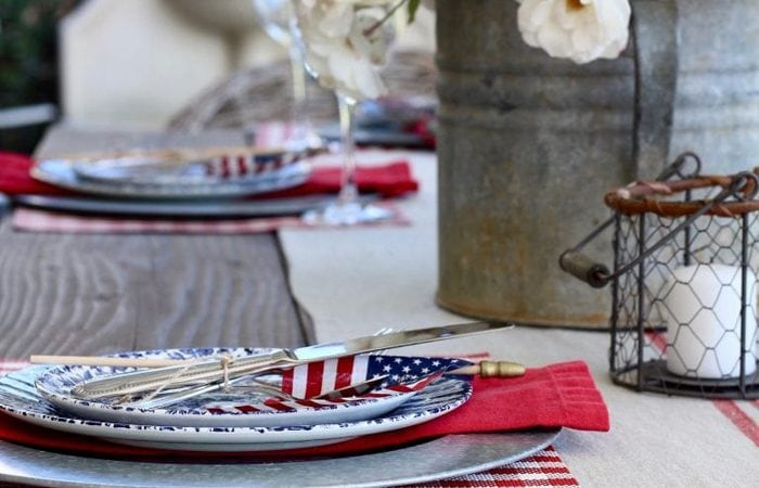 French Country Fridays – English Country Style, Patriotic Table, & More