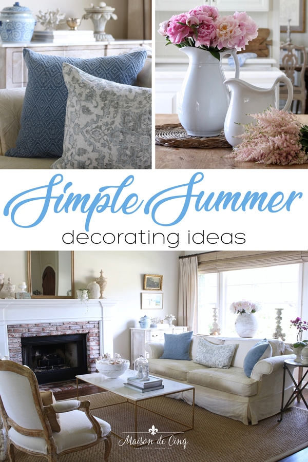 simple summer decor ideas banner Maison de Cinq