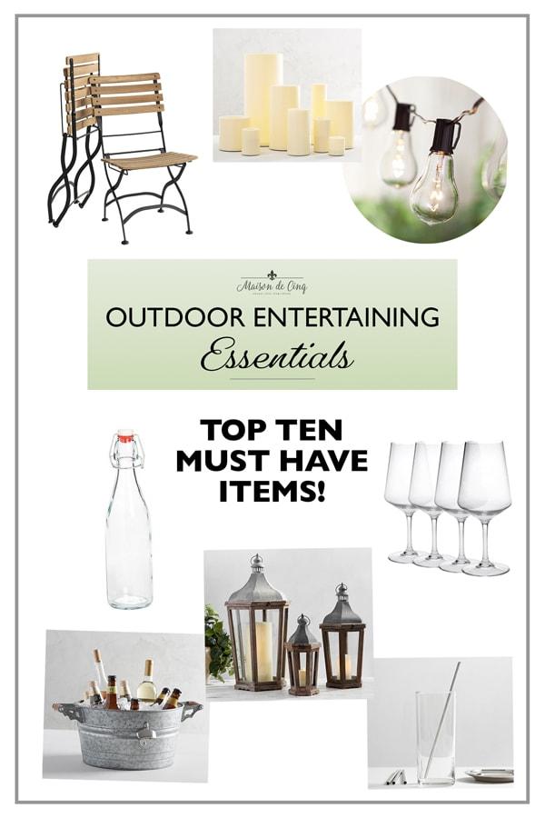 outdoor entertaining essentials top ten must haves!