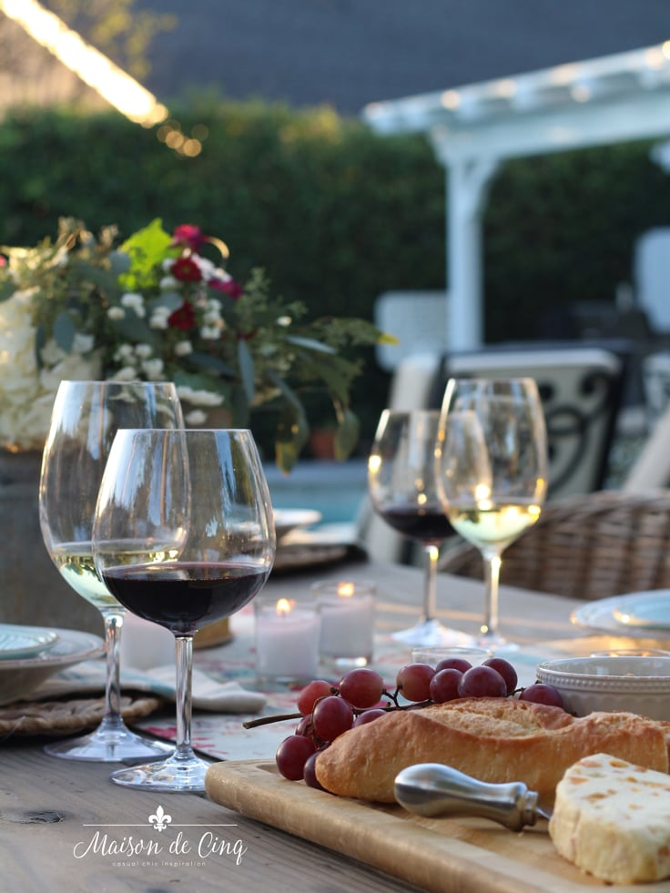 acrylic wine glasses summer outdoor entertaining essential
