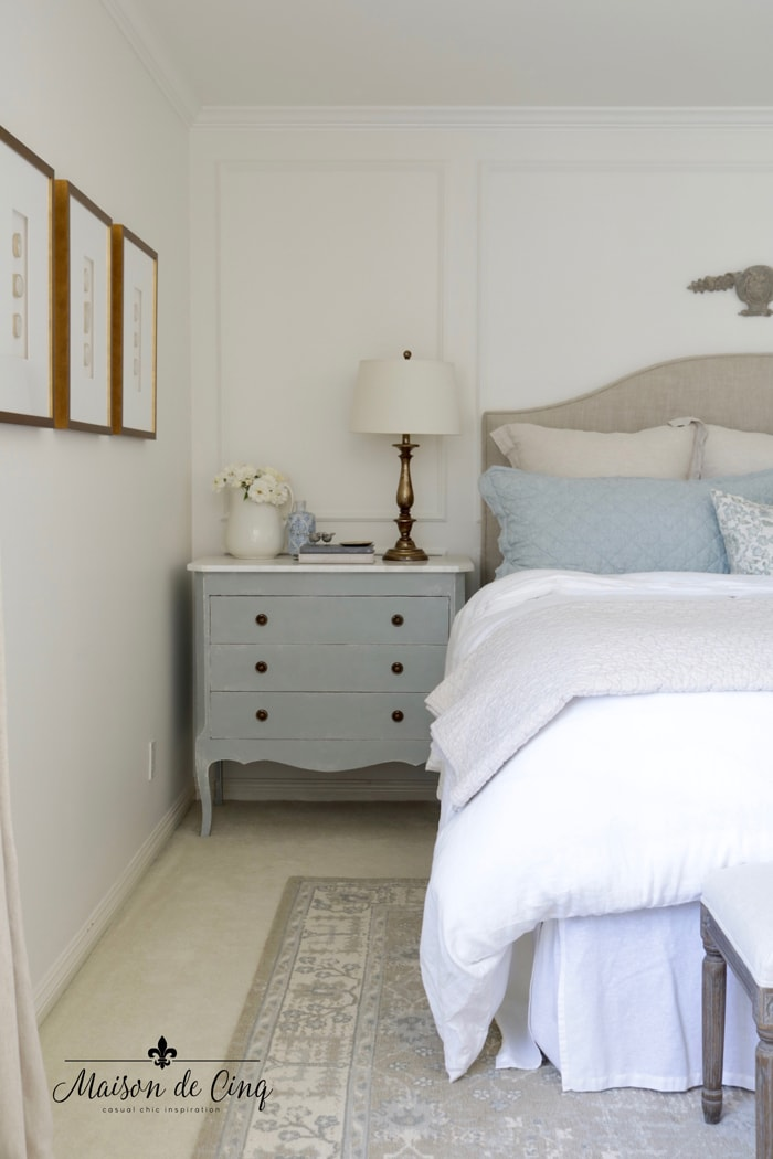 top ten posts of 2020 French farmhouse bedroom gorgeous pale blue neutral colors