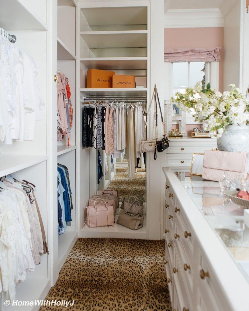 dreamy master bedroom closet