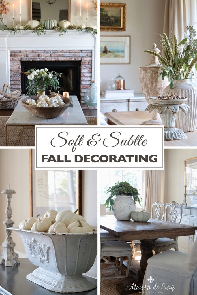 soft and subtle fall decorating ideas french country living room
