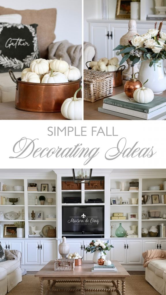 simple and neutral fall decorating ideas autumn