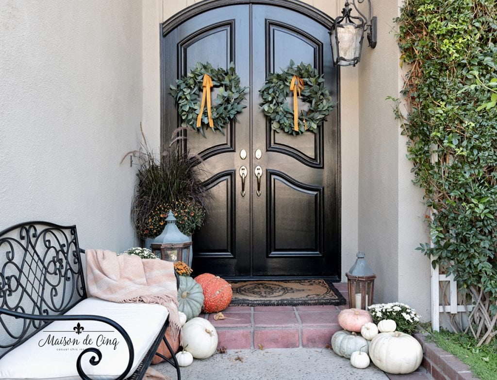 Traditional Fall Porch Autumn Outdoor Decorating Ideas