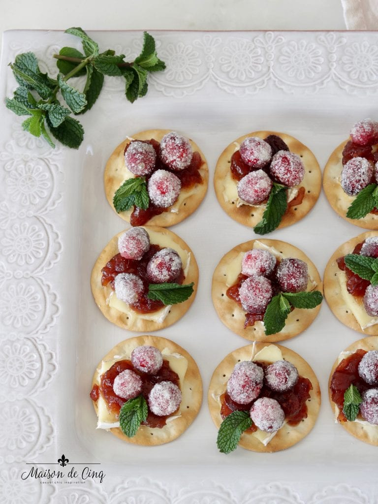 gorgeous and easy holiday appetizer sparkling cranberry and brie bites