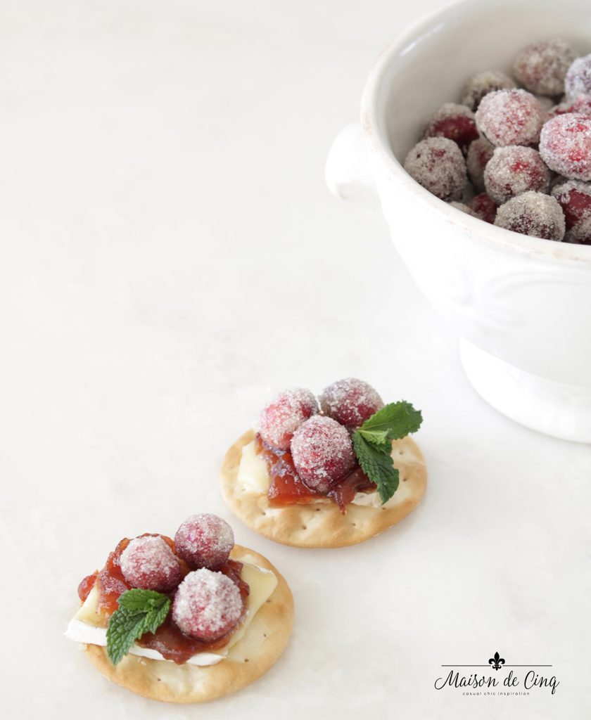 sparkling cranberry and brie bites adorable holiday appetizer