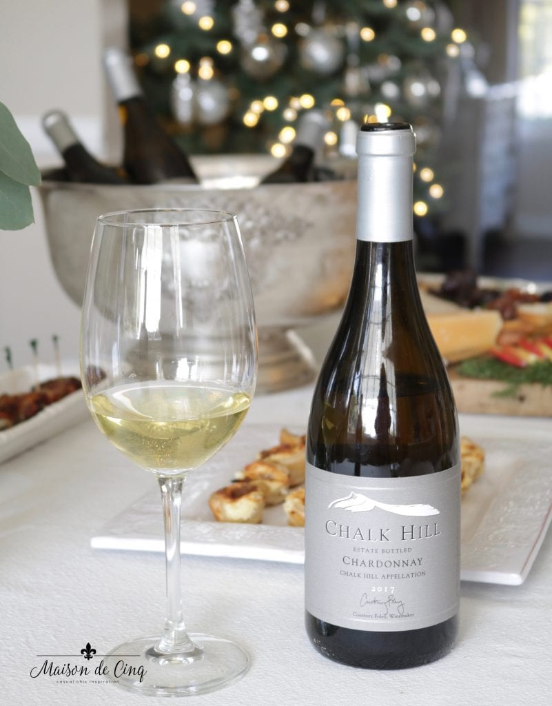 Chalk Hill estate chardonnay delicious wine holiday party with food