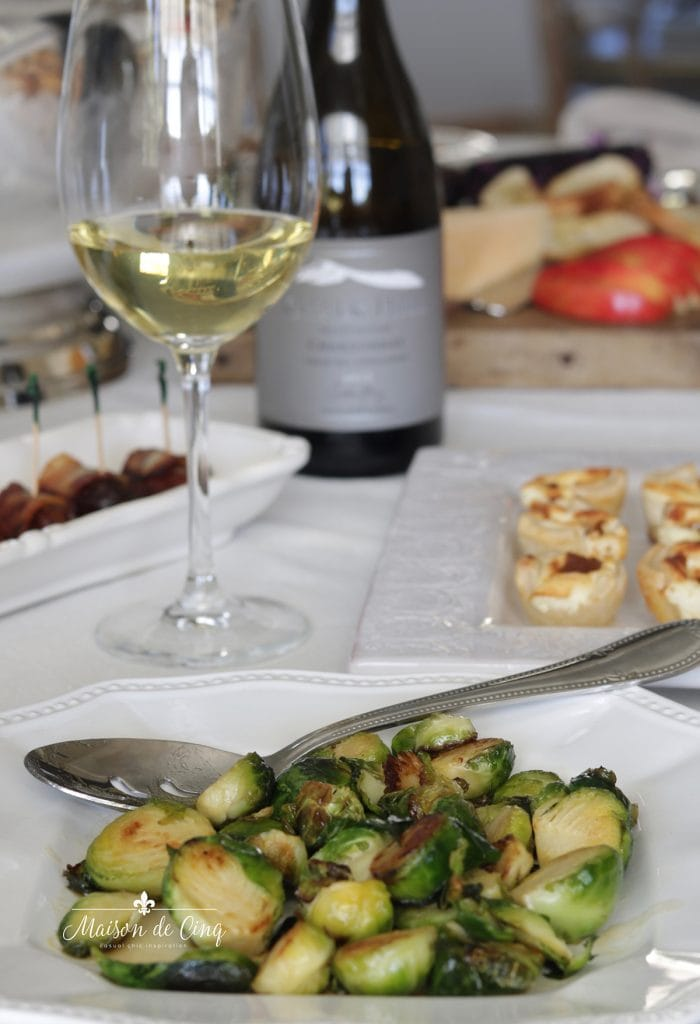 maple glazed Brussels sprouts holiday appetizer