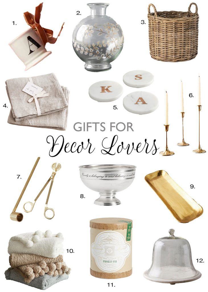 gift guide for decor lovers graphic holiday gift ideas