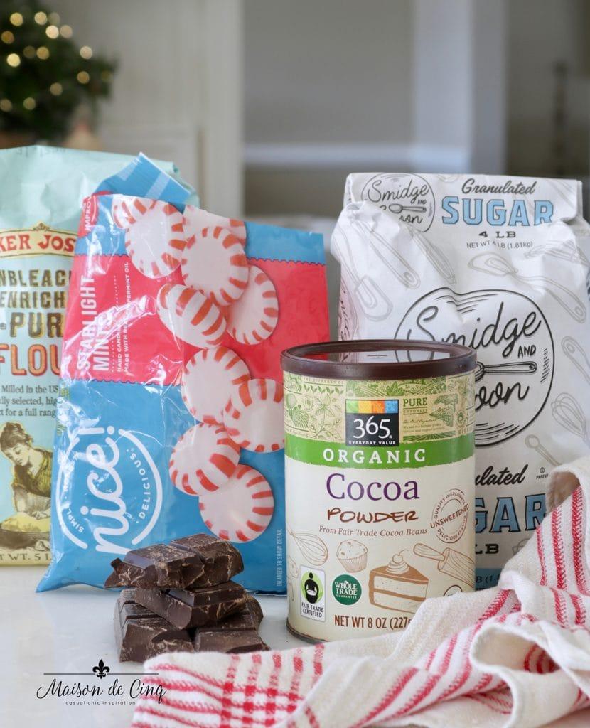 baking ingredients for brownies