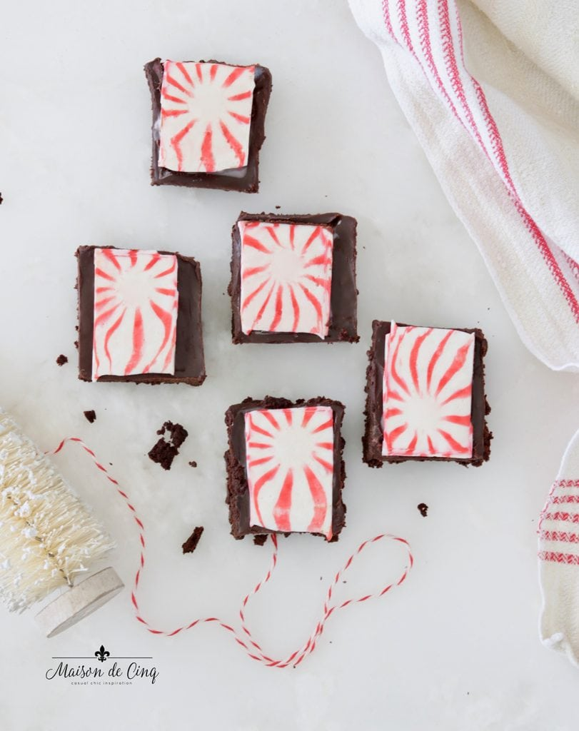 yummy Christmas star brownies on counter holiday dessert ideas