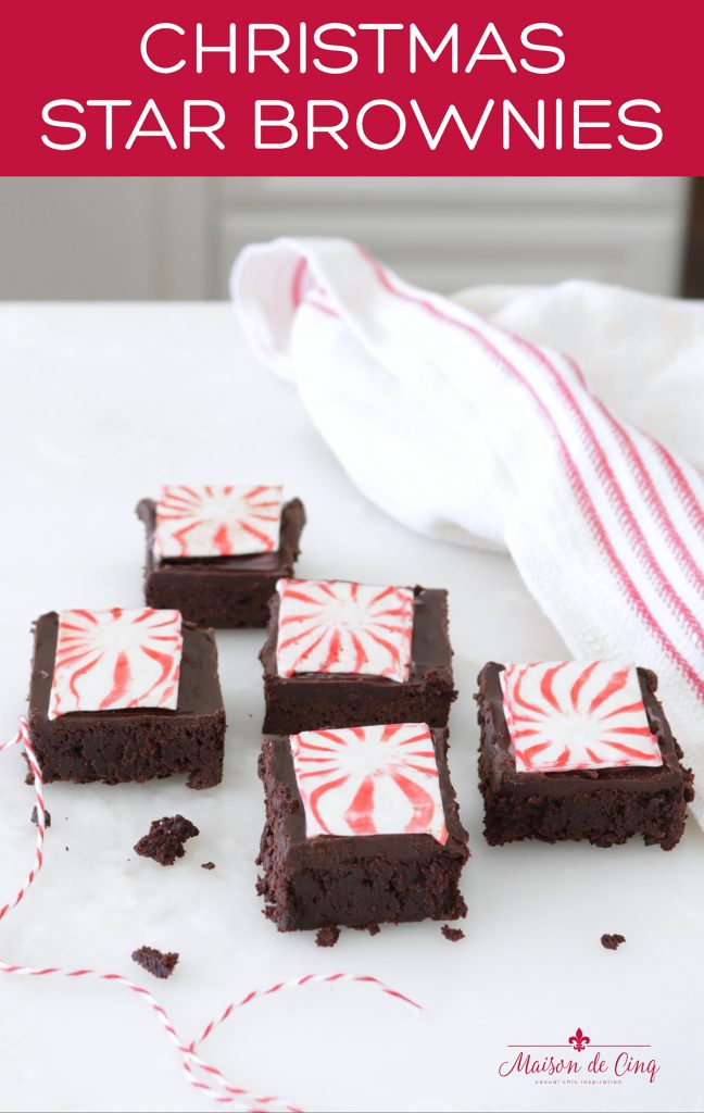 Christmas star brownies graphic delicious holiday sweet