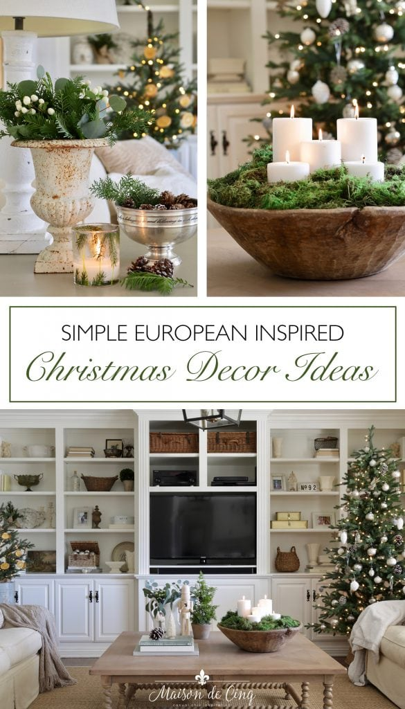 European French inspired christmas decor ideas graphic