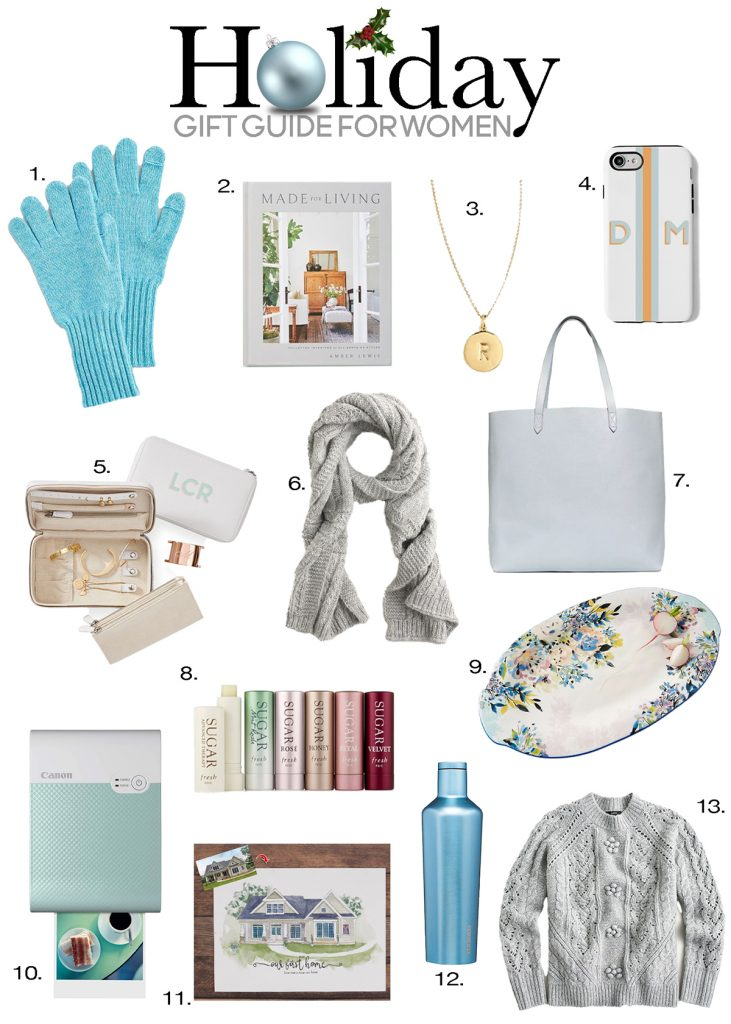 holiday gift guide for women graphic christmas gift ideas