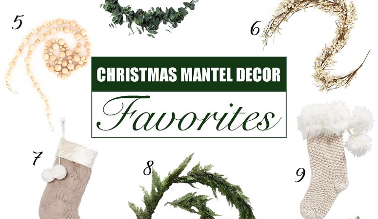 Favorite Christmas Mantel Decor – Garland, Stockings & More
