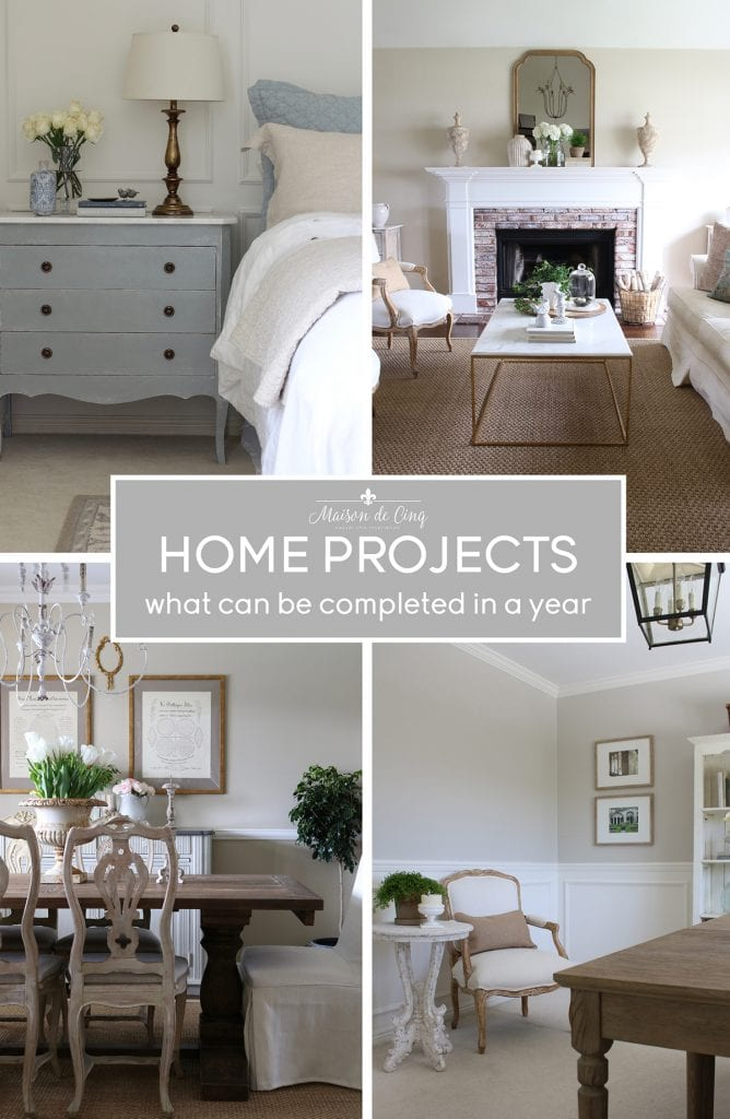 home improvements and projects what can be done in a year graphic Maison de Cinq