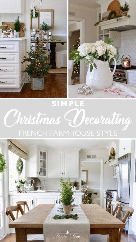 simple Christmas decorating ideas French European style graphic