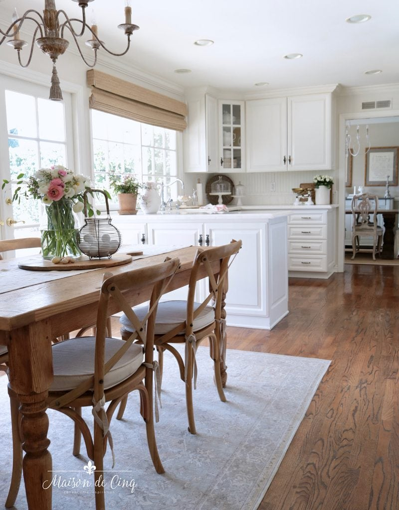 spring kitchen decorating French country white kitchen