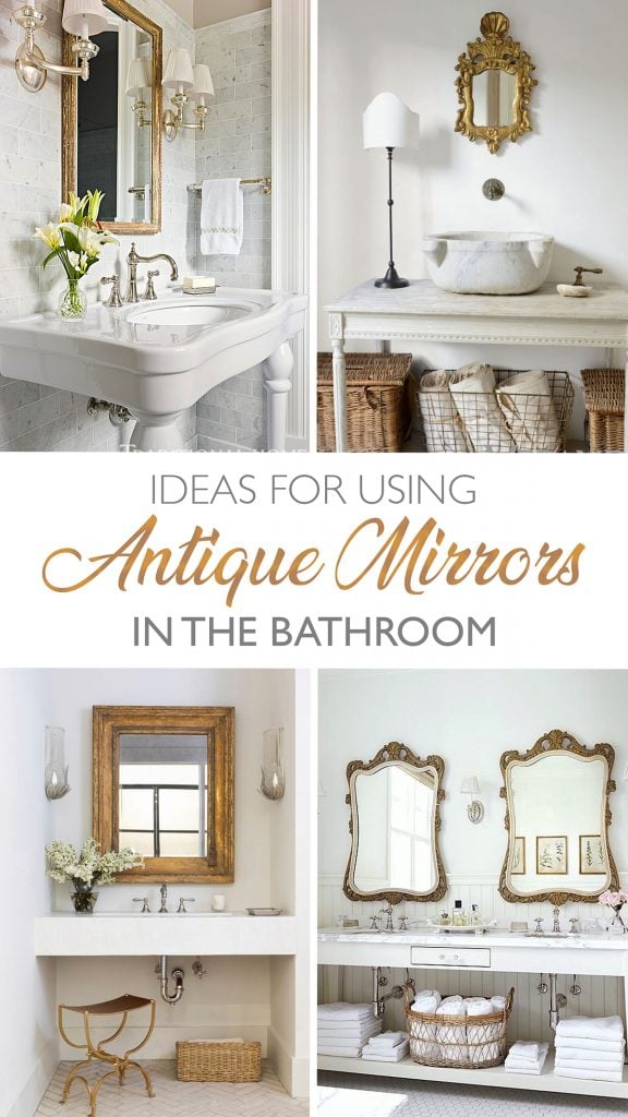 antique mirrors in the bathroom ways to add charm and character graphic