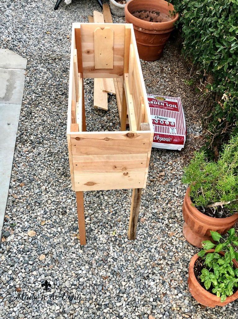 Diy Raised Herb Garden Planter Box, How To Make A Raised Herb Garden