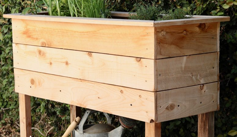 DIY Raised Herb Garden Planter Box