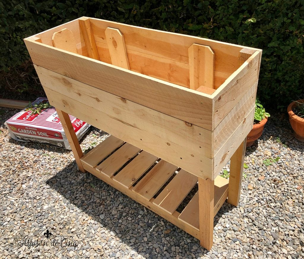 building an herb garden planter box backyard