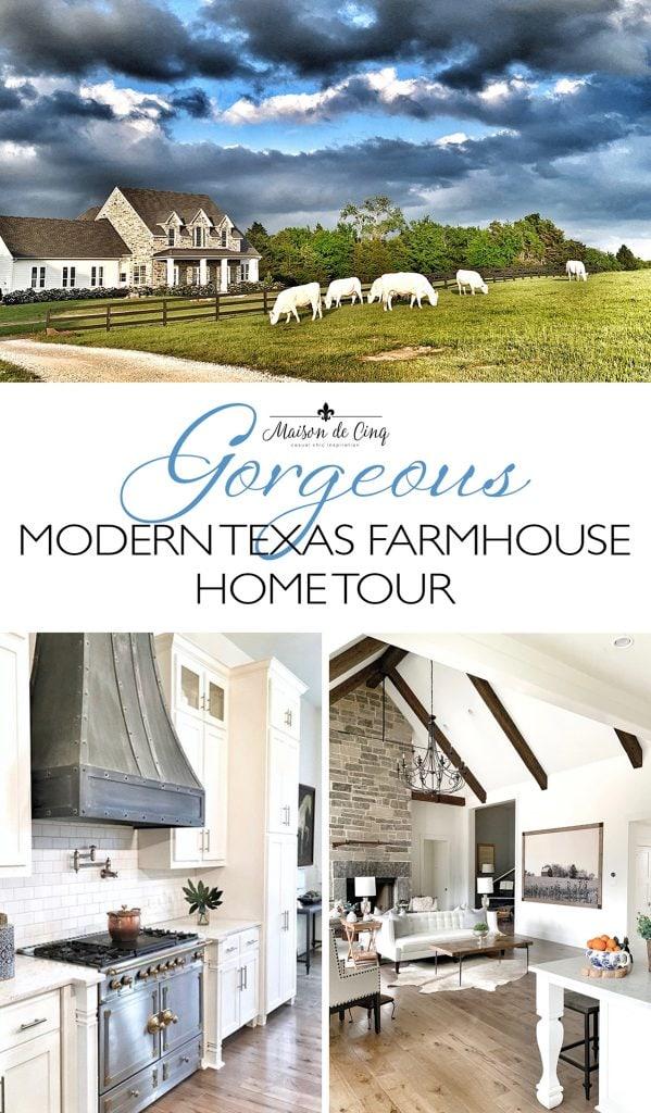 gorgeous modern Texas farmhouse home tour graphic
