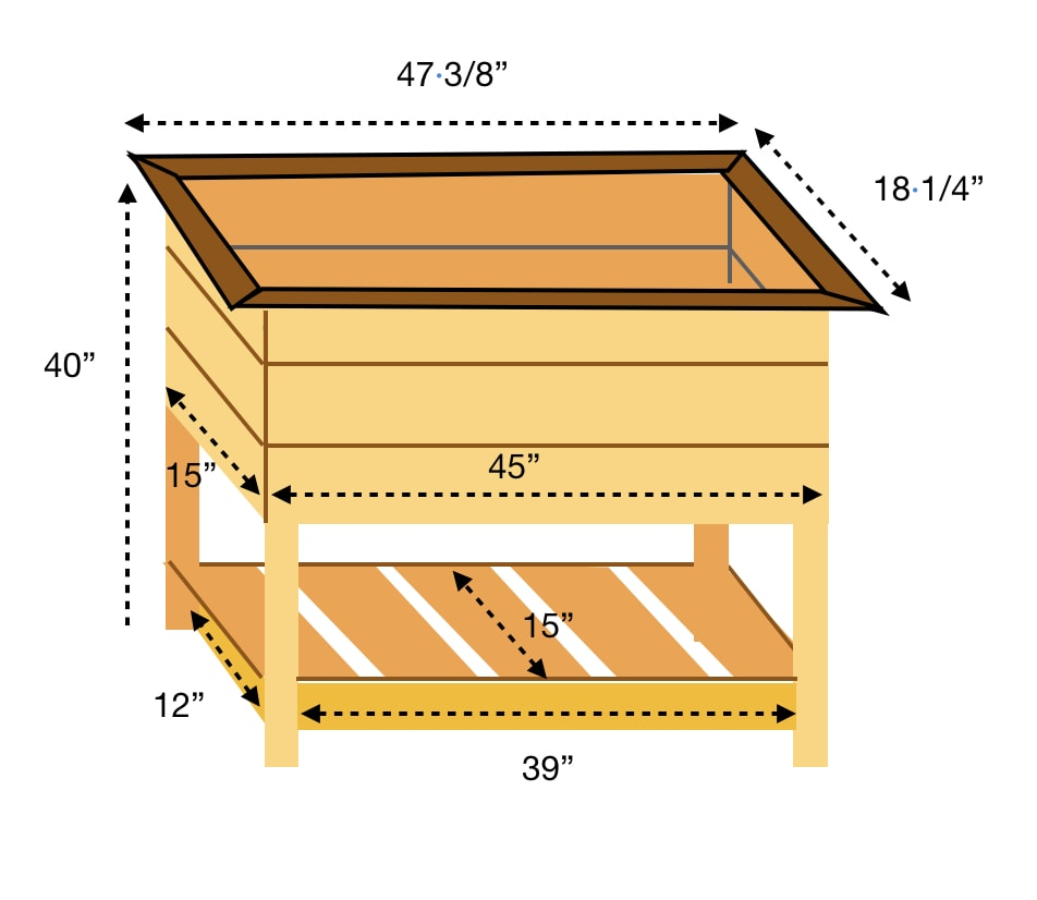 DIY planter box schematic design plans