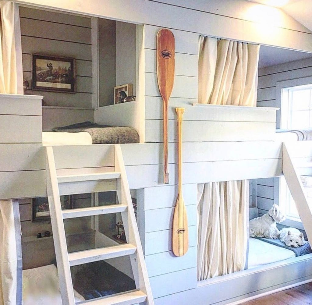 kids teen bunk room modern farmhouse style
